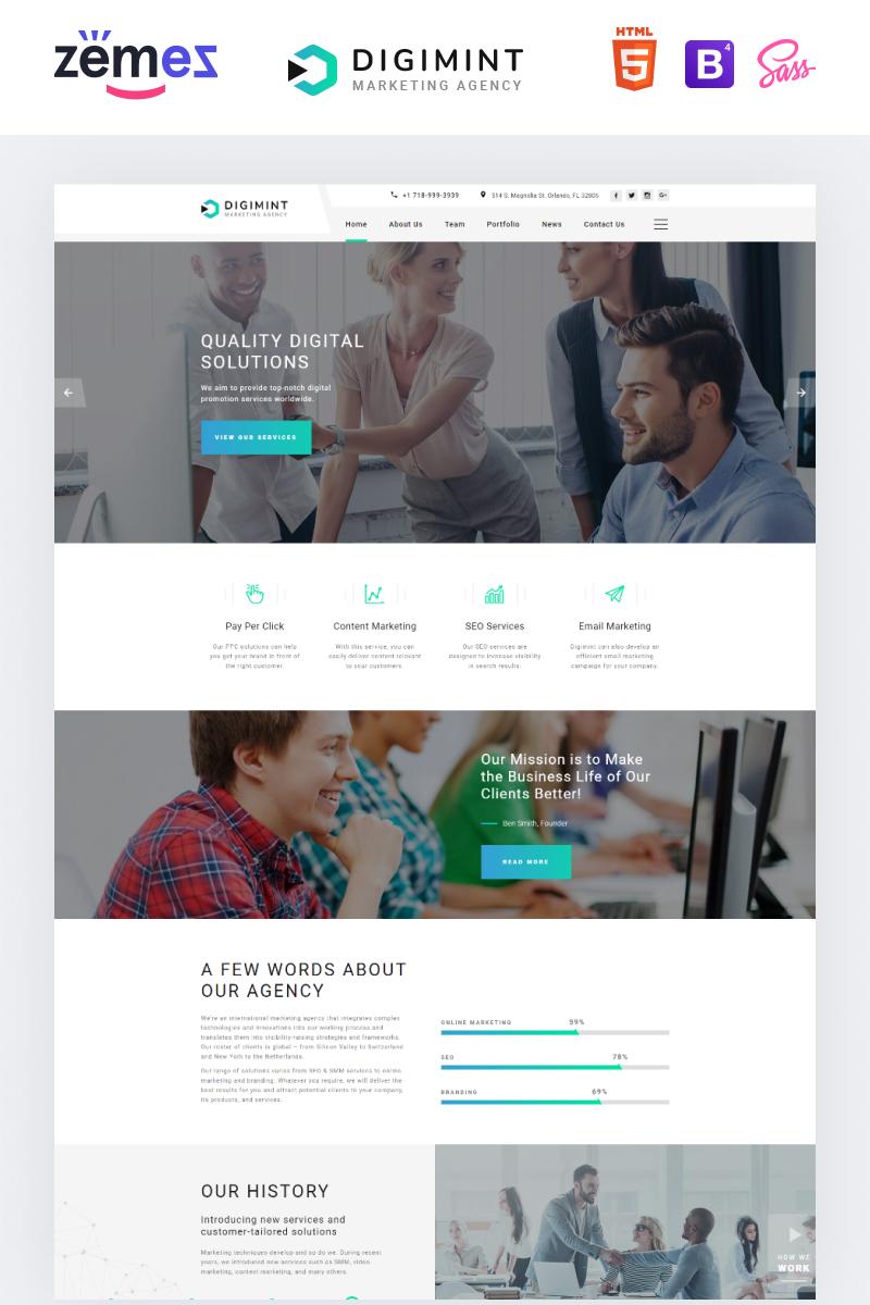 Responsywny szablon Landing Page Digimint - Business Services Clean HTML #79341