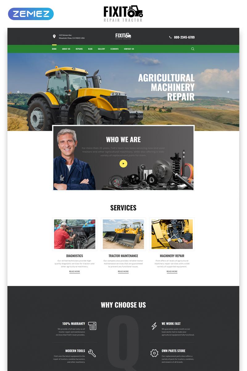 Reszponzív FIXIT - Tractor Repair Multipage Classic HTML Weboldal sablon 79306