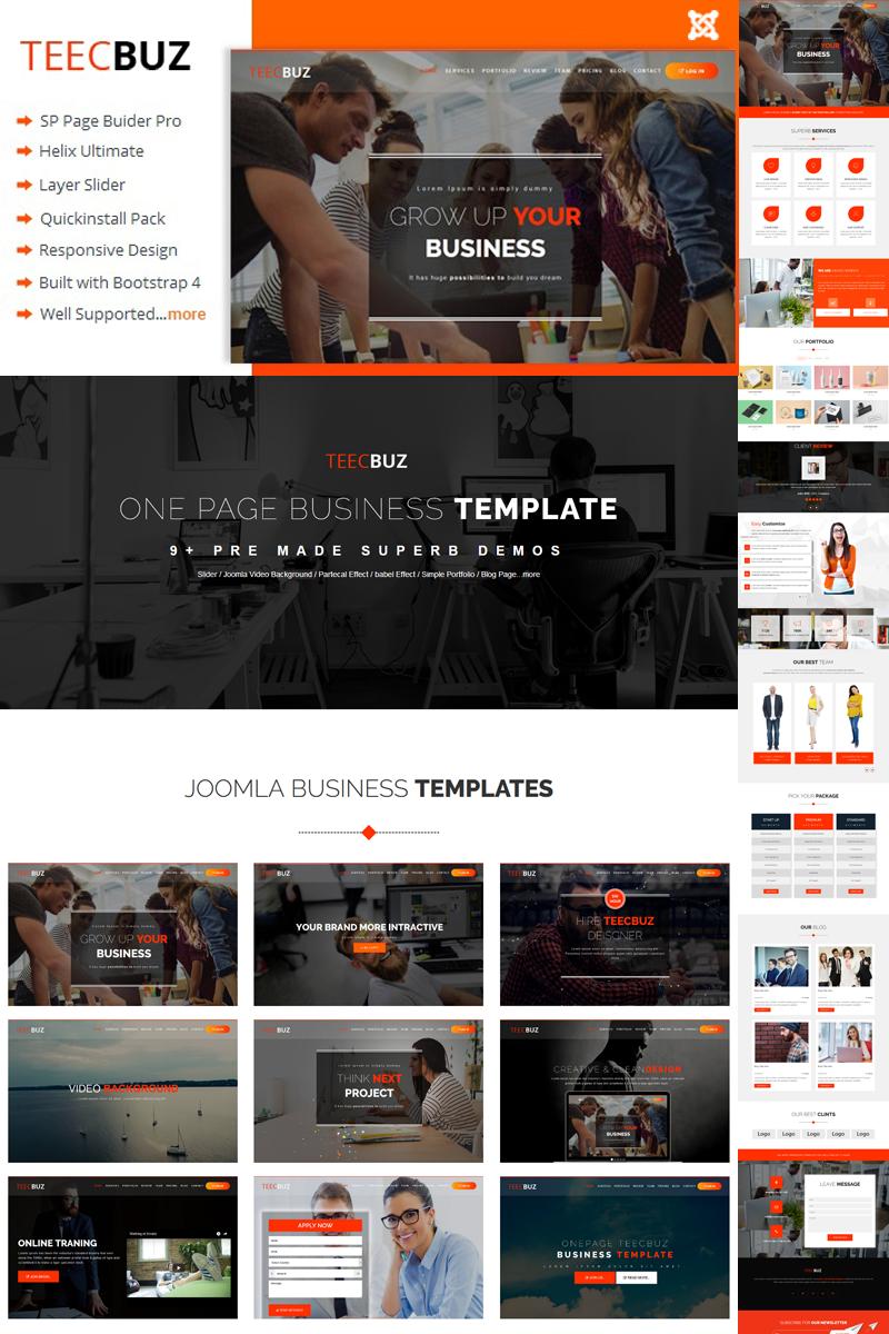 """Tema Joomla Responsive #79323 """"TeecBuz - Business Onepage"""""""