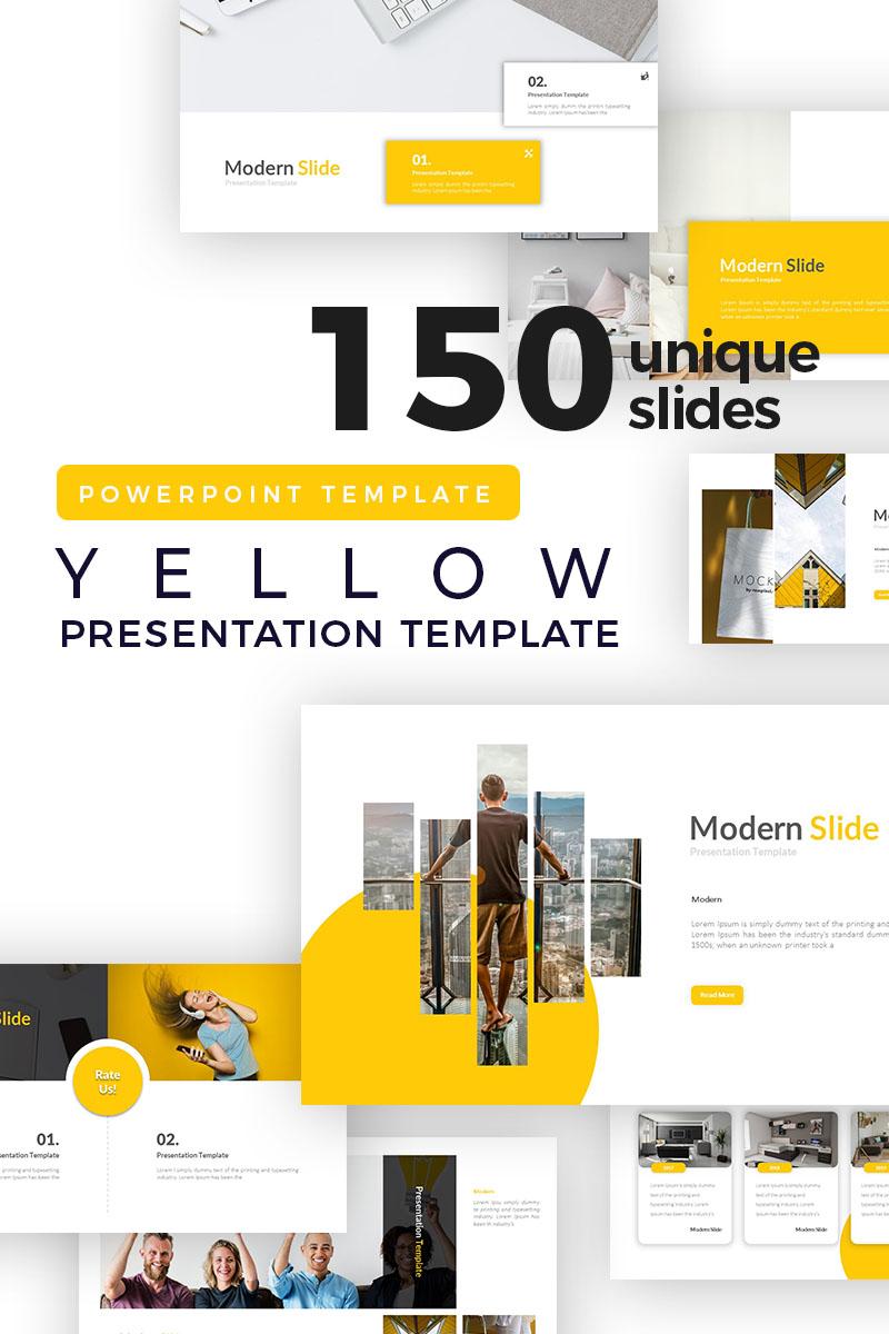 Yellow Modern Presentation PowerPoint Template
