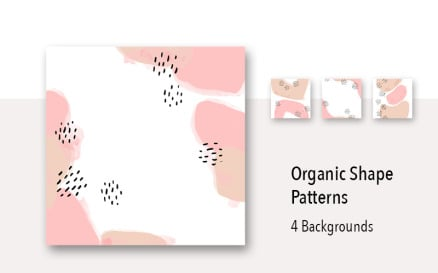 4 Organic Shape Pastel Background Pattern