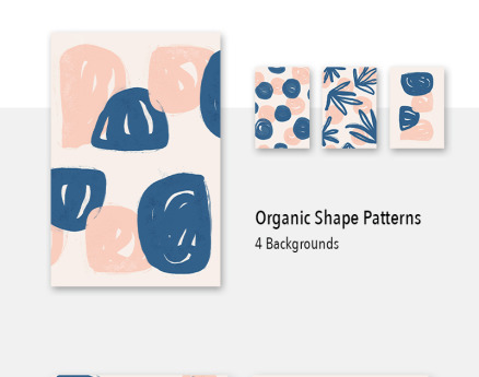 4 Organic Shape Awesome Backgrounds Pattern
