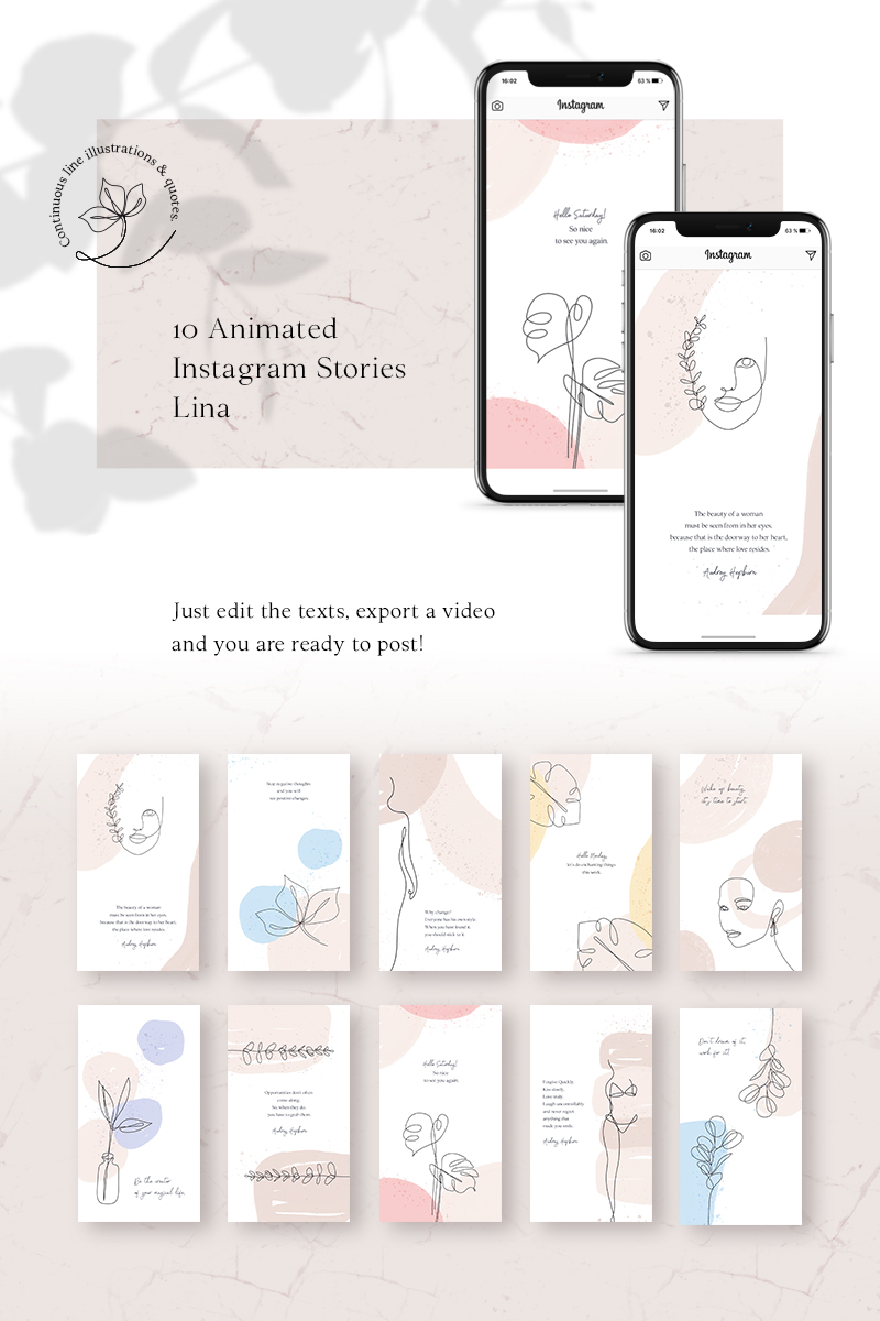 """ANIMATED Instagram Stories – Lina"" média social  #79447"