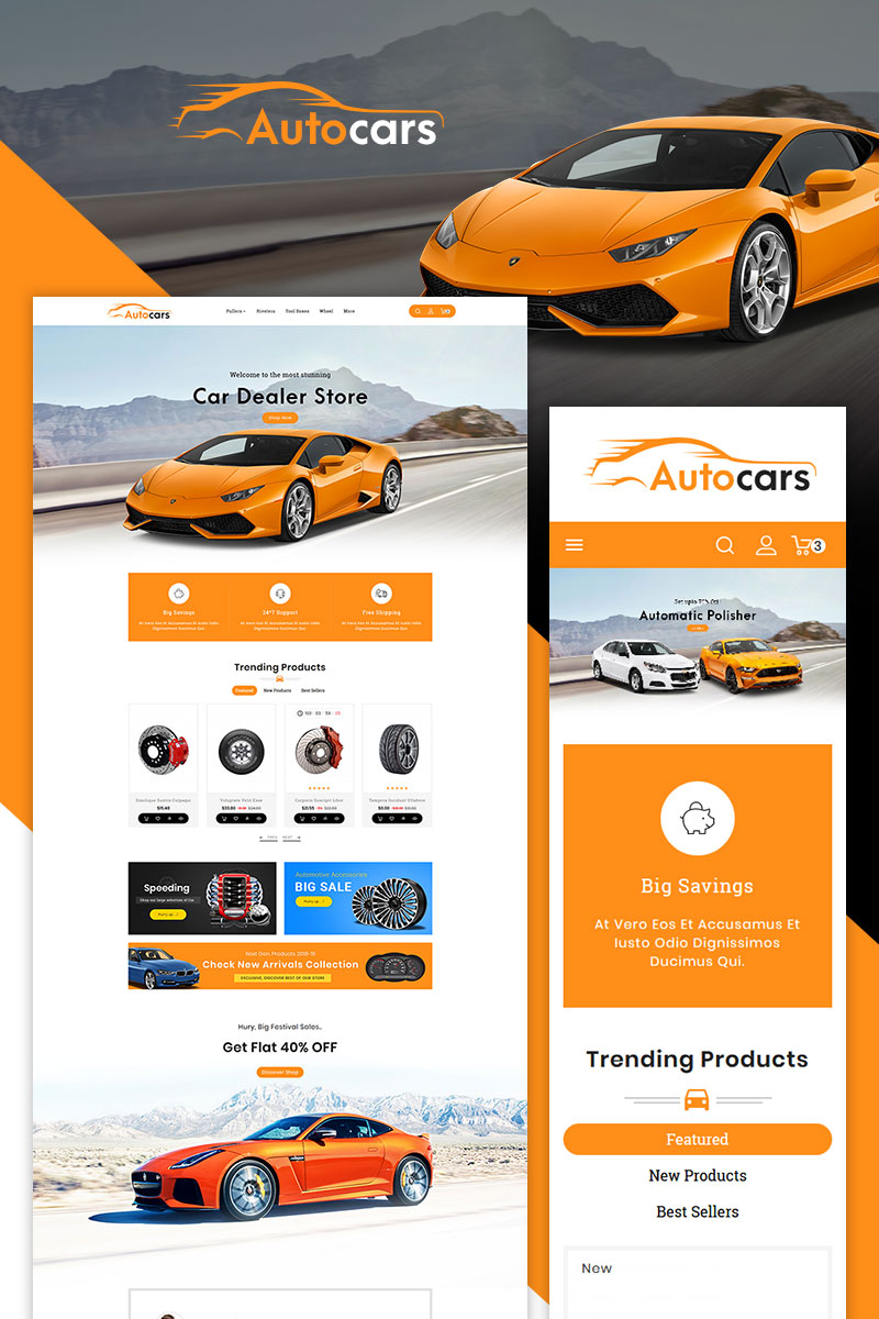 Auto Parts & Cars PrestaShop Theme