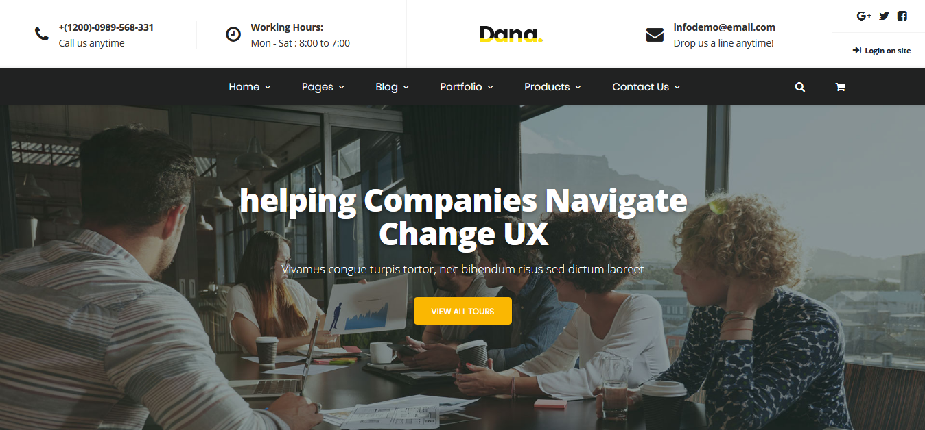 Dana - Corporate Business MultiPurpose Joomla Template - screenshot