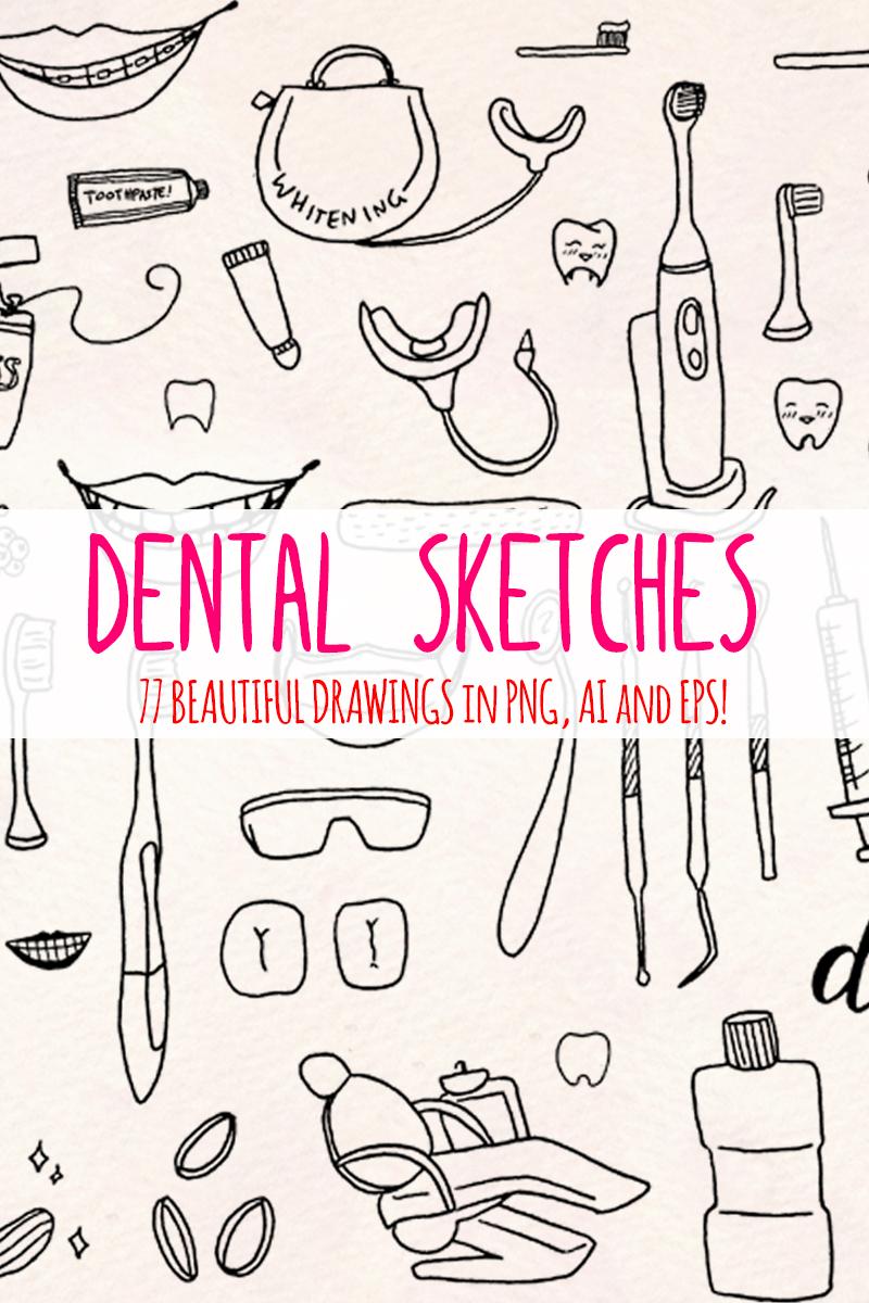 """77 Dentist and Dental Vector Graphics"" 插图 #79415 - 截图"