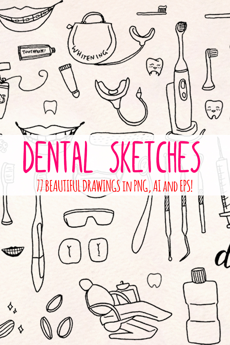 """77 Dentist and Dental Vector Graphics"" illustration  #79415 - screenshot"