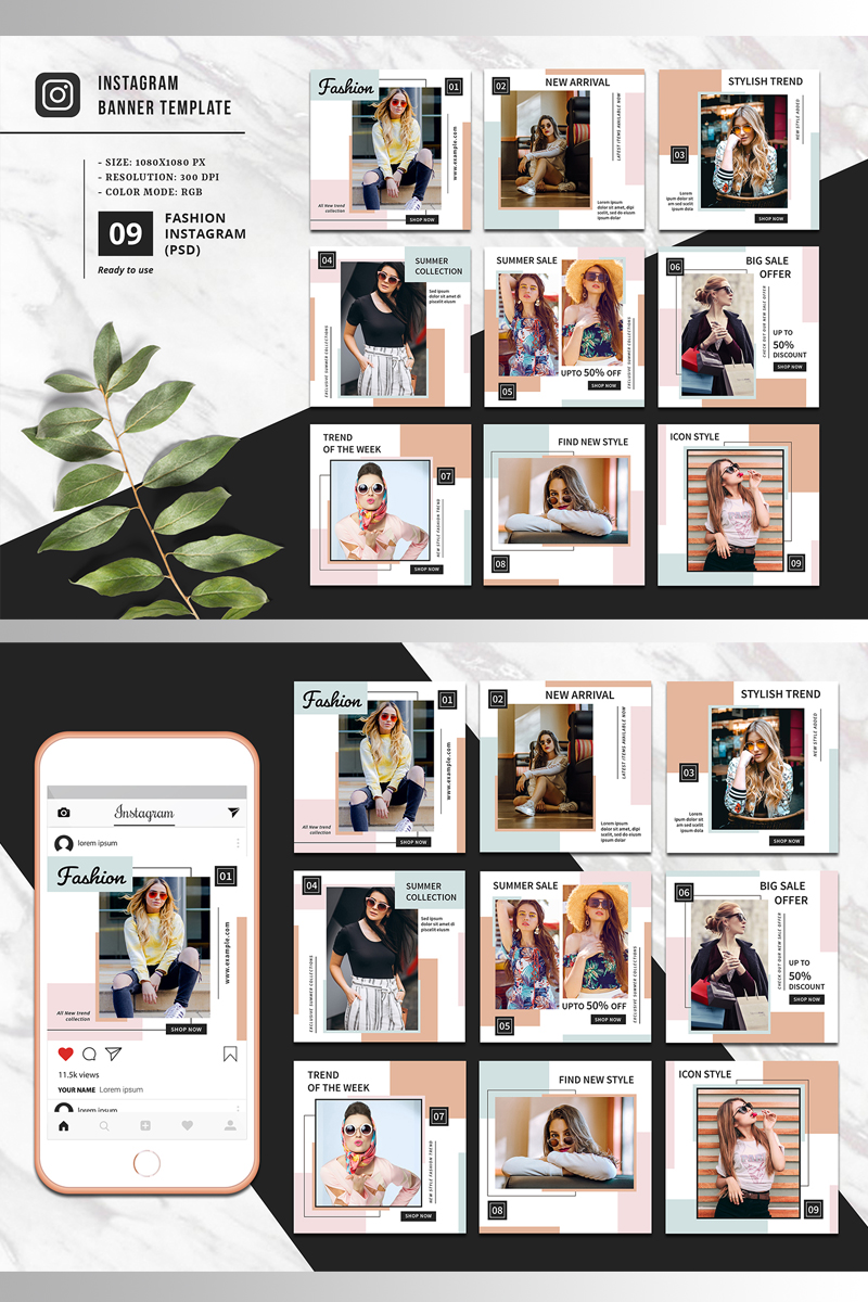 Fashion Promotional Instagram Social Media - screenshot