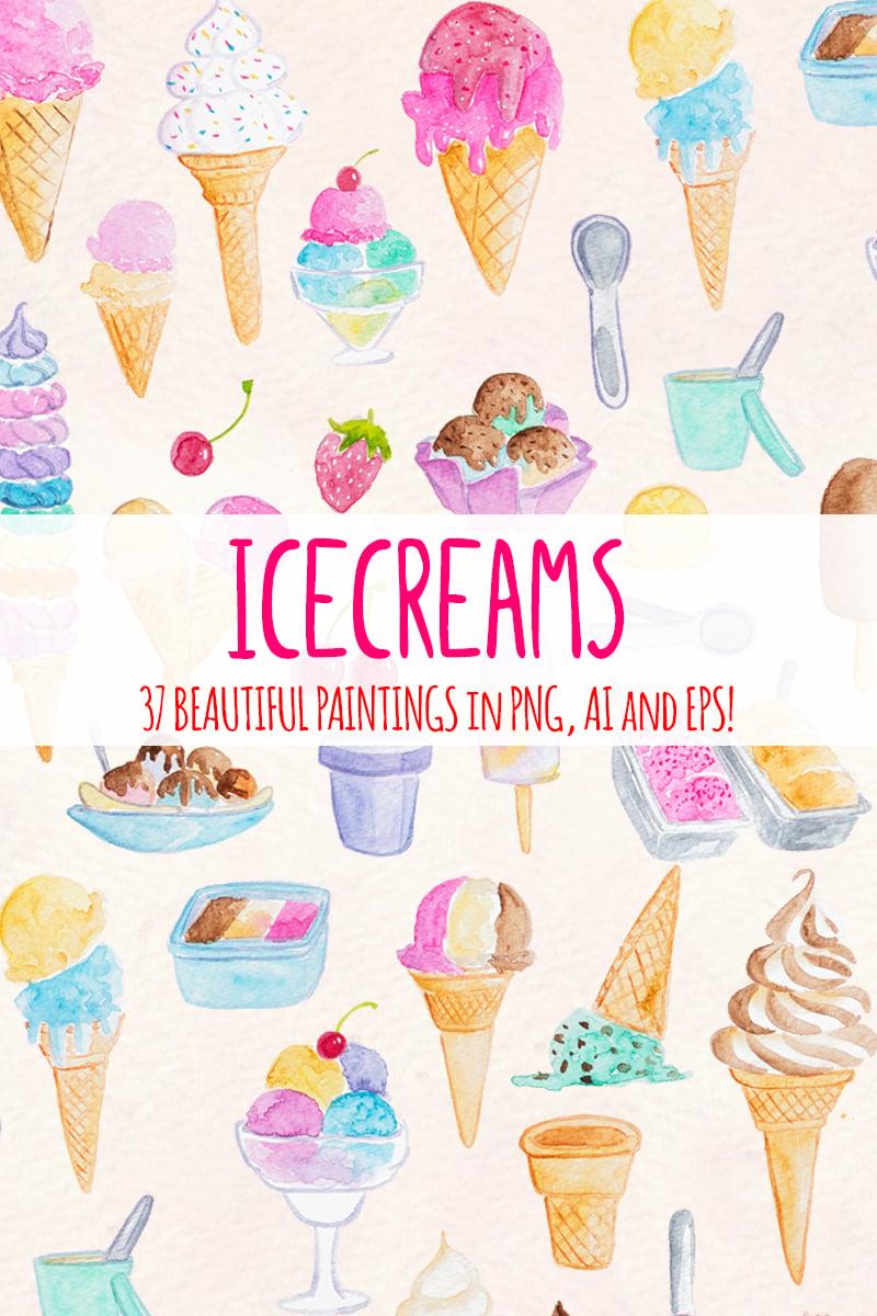 "Ilustrace ""37 Icecream and Summer Snack"" #79417 - screenshot"
