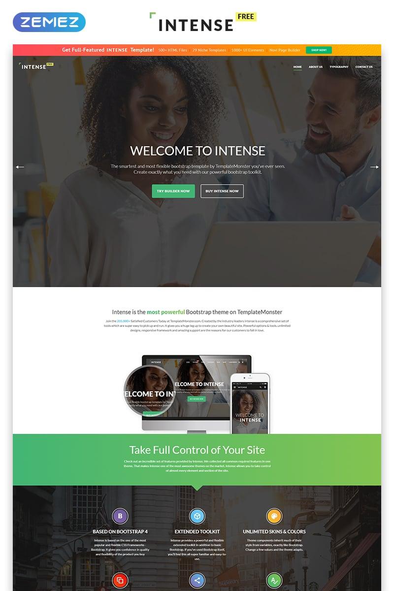 Intense - Free version HTML Website Template - screenshot