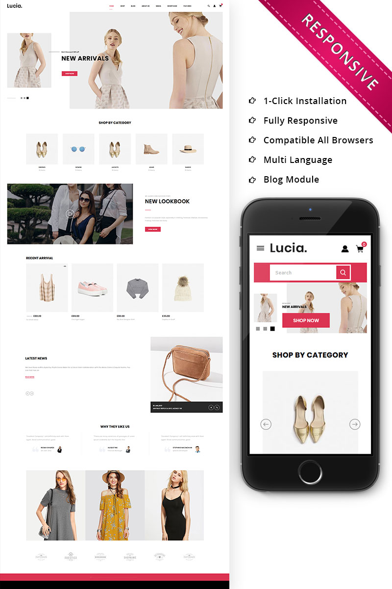 """Lucia - The Fashion Store Responsive"" thème WooCommerce adaptatif #79439"