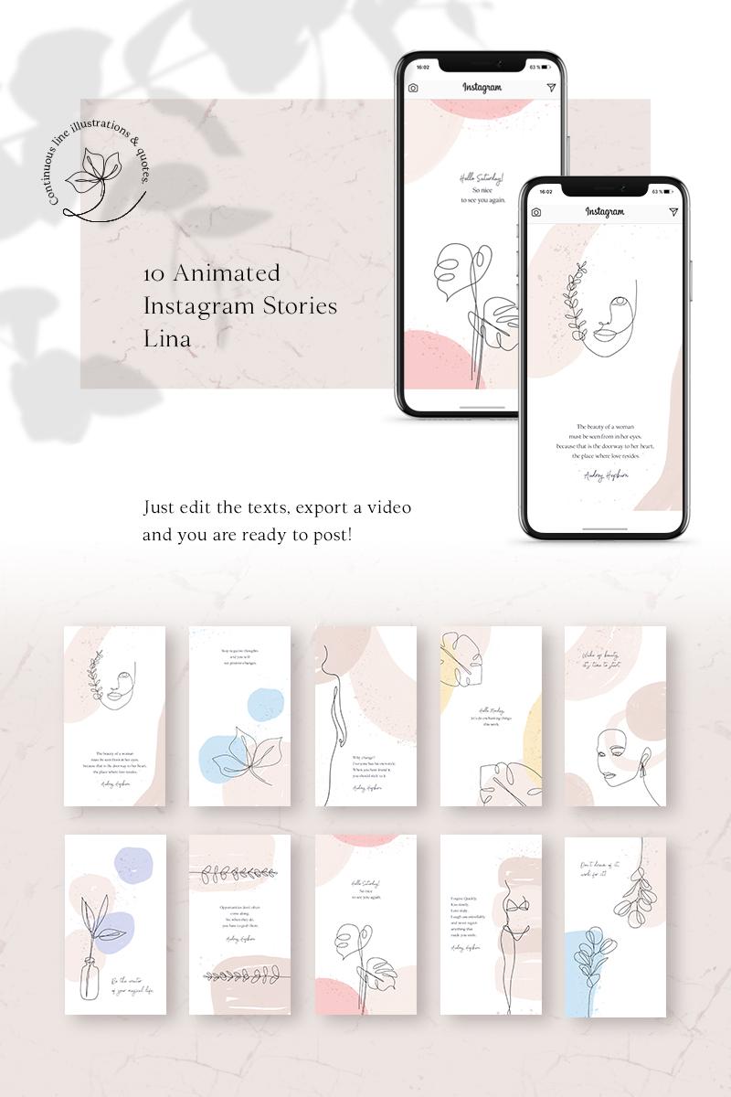 Media społecznościowe ANIMATED Instagram Stories - Lina #79447