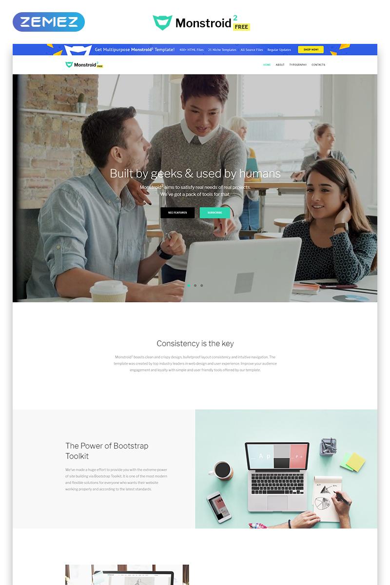 Monstroid2 - Free version HTML Website Template - screenshot