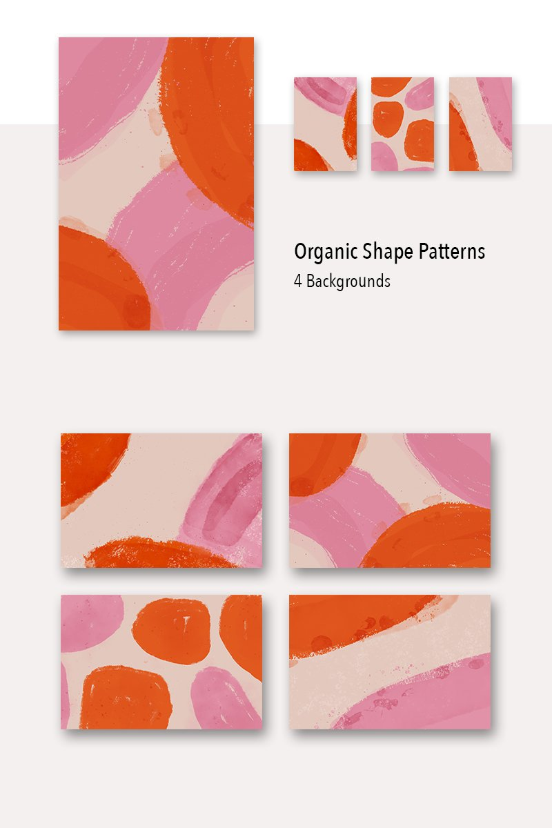 4 Organic Shape Background Pattern №79449