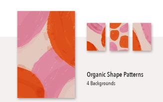 4 Organic Shape Background Pattern