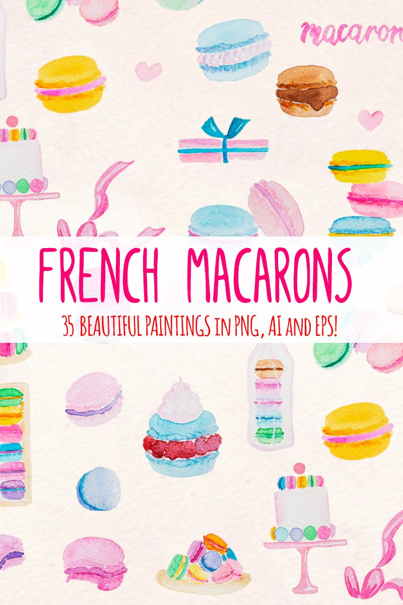 35 Pretty French Macarons Illustration 79419 - képernyőkép
