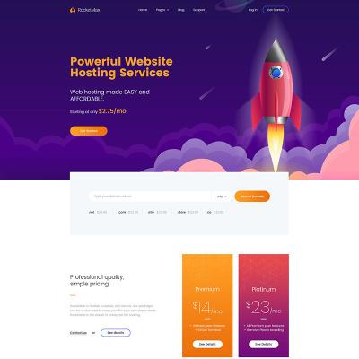 Responsive Hosting Website Templates
