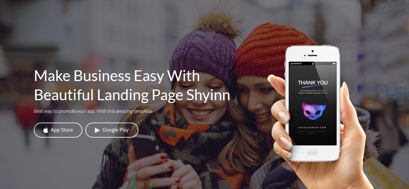 Shyinn - Responsive App Landing Joomla Template - screenshot