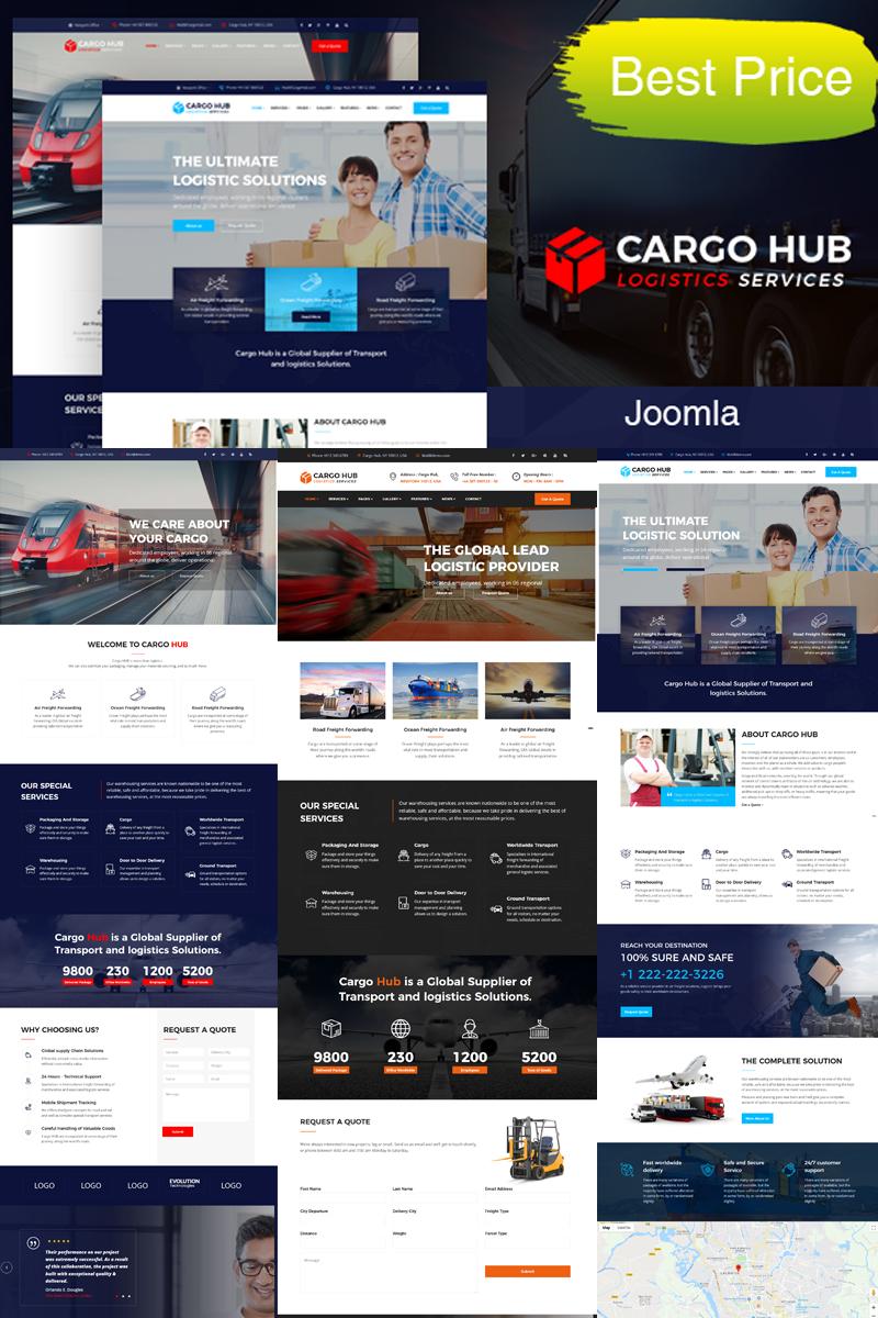 "Tema Joomla Responsive #79431 ""Cargo HUB - Transportation, Logistics and Shipping"""