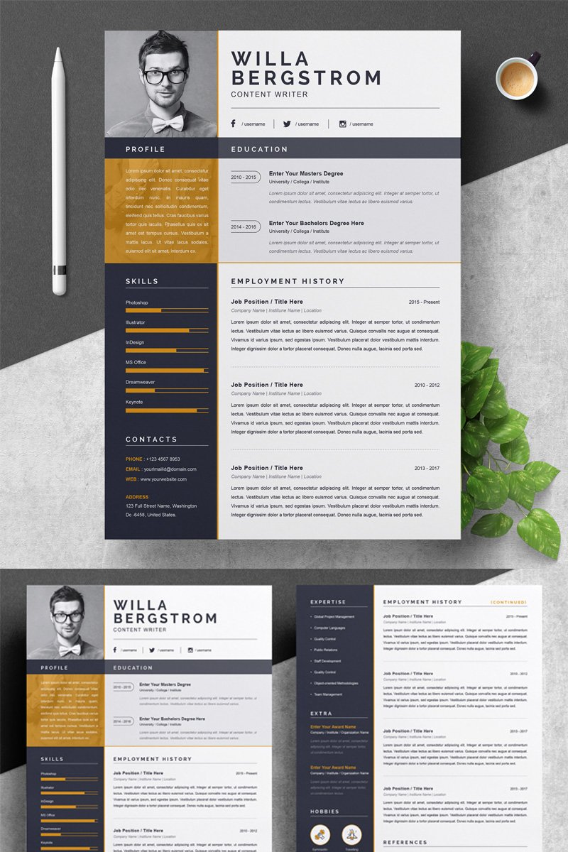 "Template CV #79414 ""Willa"" - screenshot"