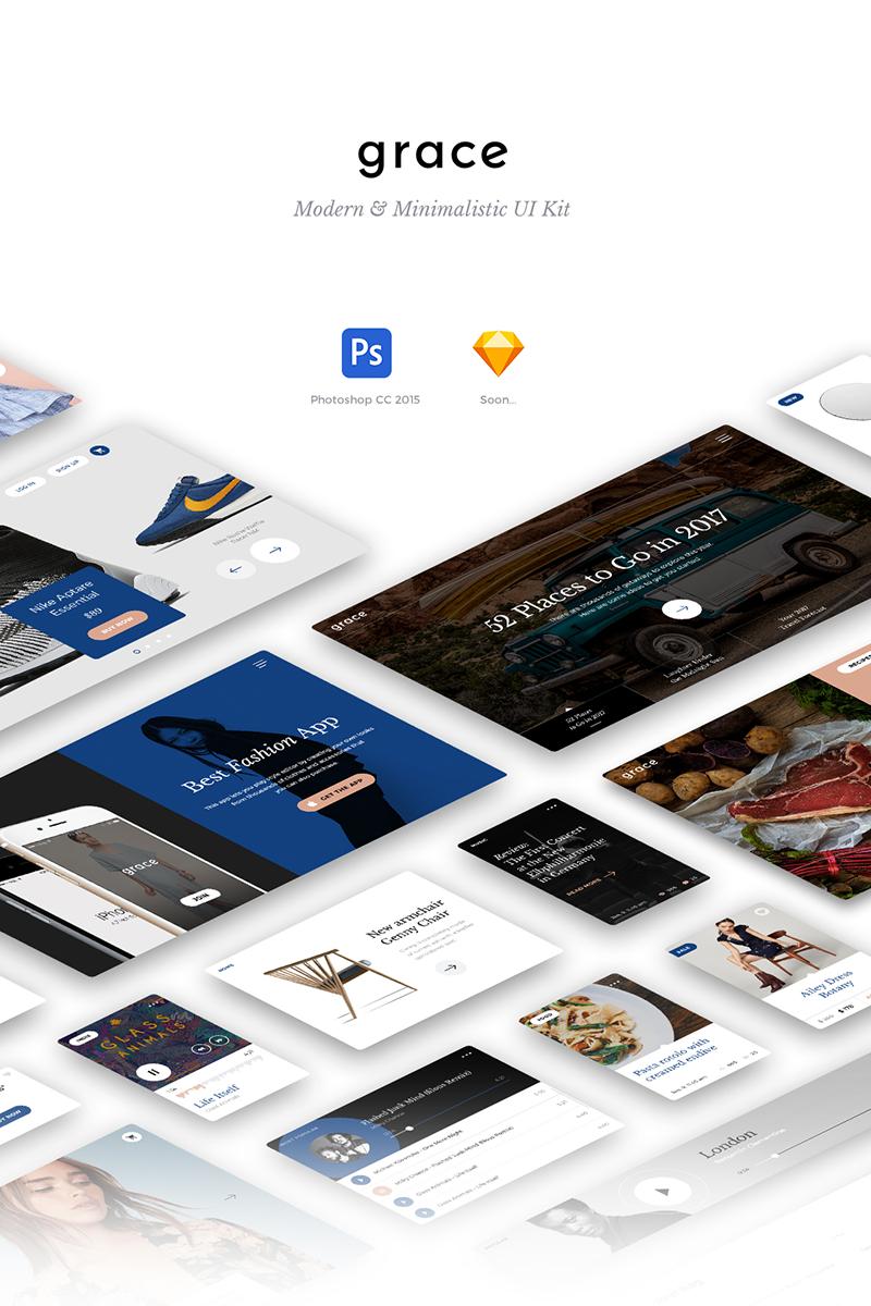 "UI prvky ""Grace UI Kit"" #79489 - screenshot"