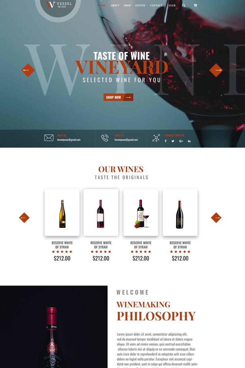 Vessel Wine PSD Template