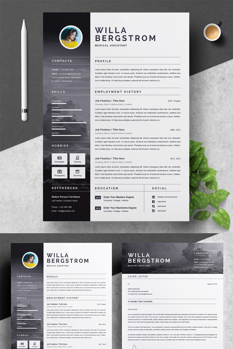 """Willa"" Premium CV Template №79418 - screenshot"