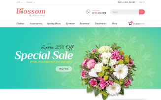 Blossom - Flower & Gifts Shop PrestaShop Theme