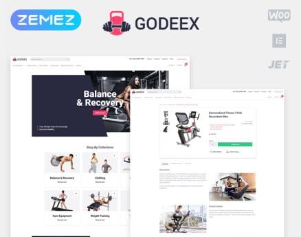 Godeex - Sports Gear ECommerce Modern Elementor WooCommerce Theme