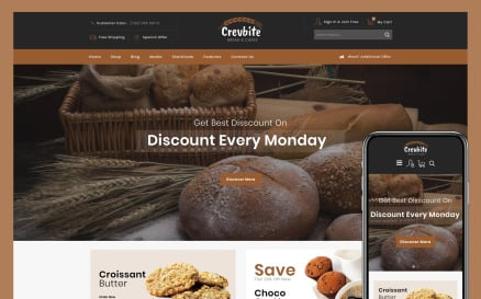Crevbite - Bakery & Chocolate Store WooCommerce Theme