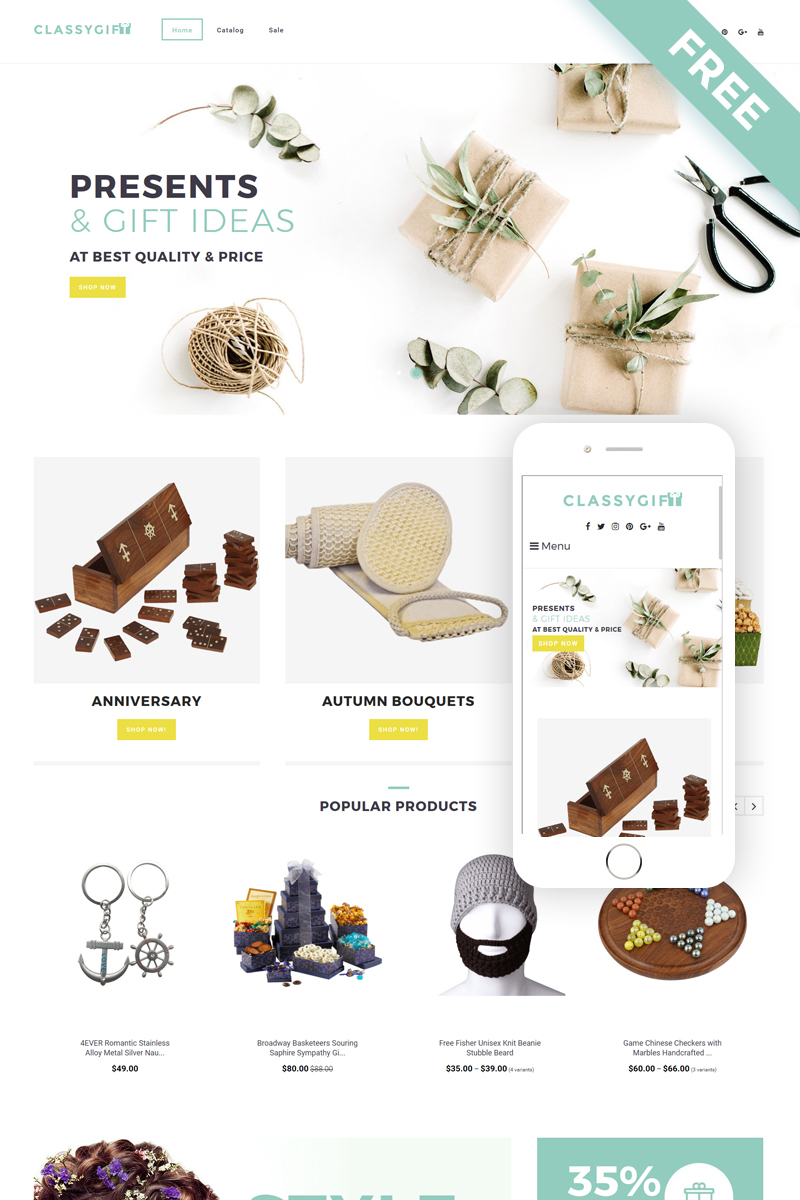 Classygift - Gifts Templates E-commerce Shopify Theme - screenshot