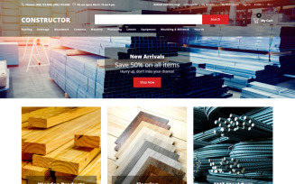 Constructor - Building Materials Creative OpenCart Template