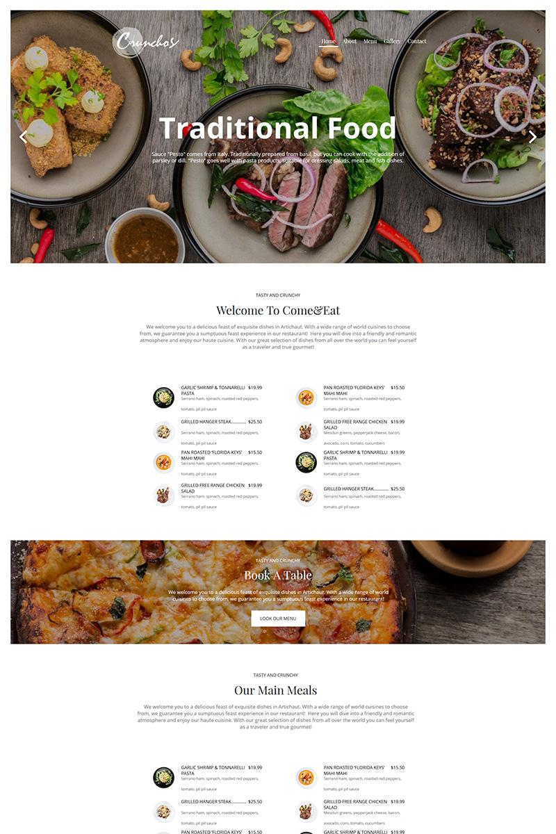 """""""Crunchos - Restaurant"""" modèle Moto CMS HTML  #79545"""