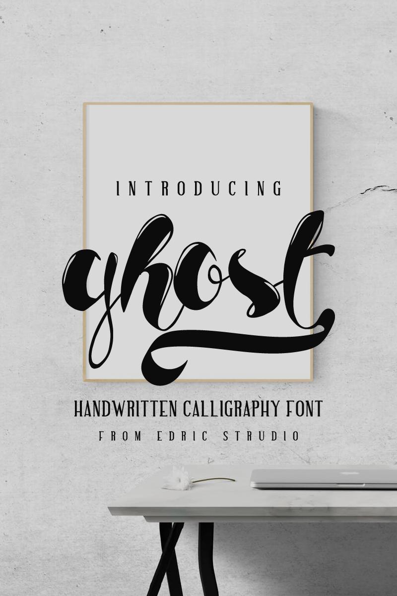 """Ghost"" Lettertype №79581 - screenshot"
