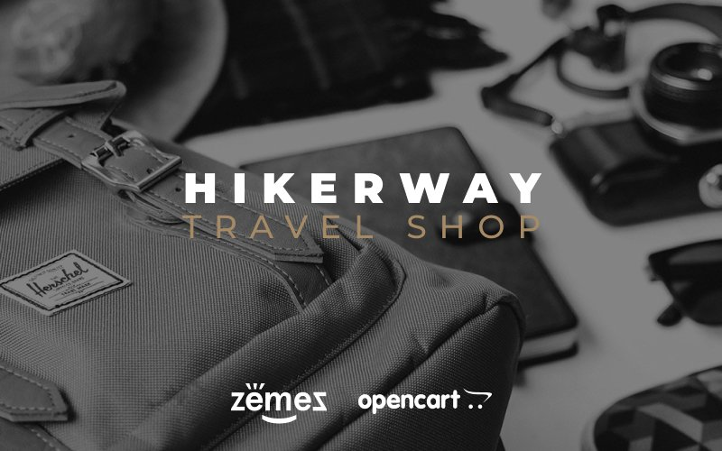 """Hiker Way - Travel Store Multipage Modern"" Responsive OpenCart Template №79558"
