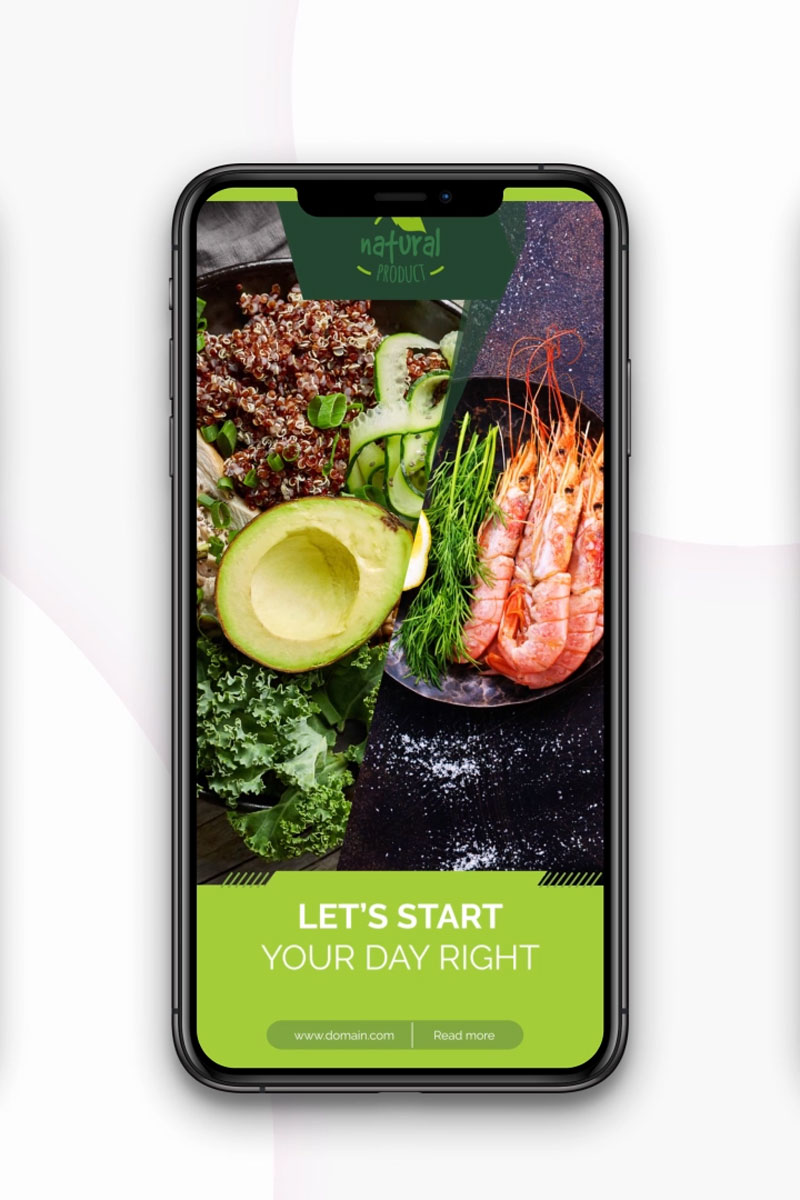 """Instagram stories: Healthy Food"" after Effects Intro  #79585 - screenshot"