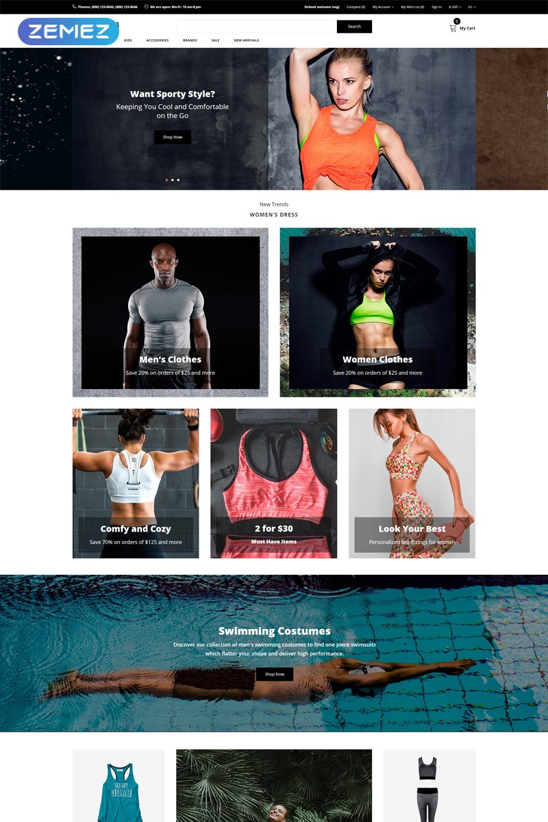 """iRon Man - Sports Store eCommerce Modern"" Responsive OpenCart Template №79529"