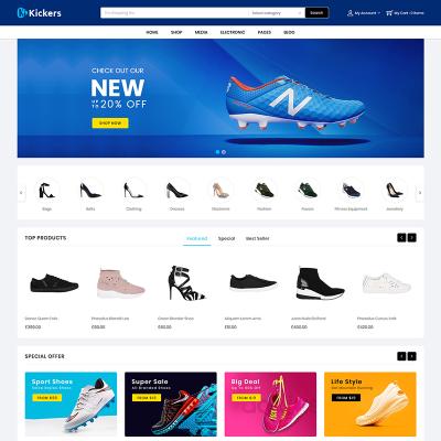 Flexível tema WooCommerce №79582 para Sites de Sapataria