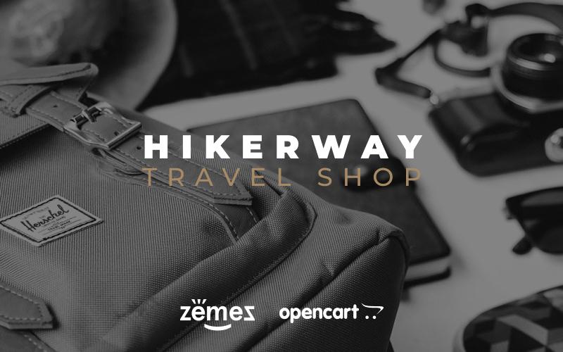"Plantilla OpenCart ""Hiker Way - Travel Store Multipage Modern"" #79558"
