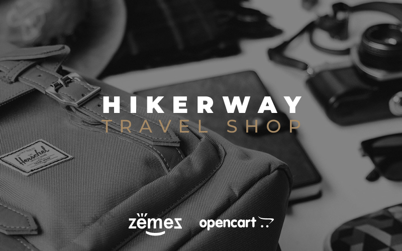 "Template OpenCart Responsive #79558 ""Hiker Way - Travel Store Multipage Modern"""