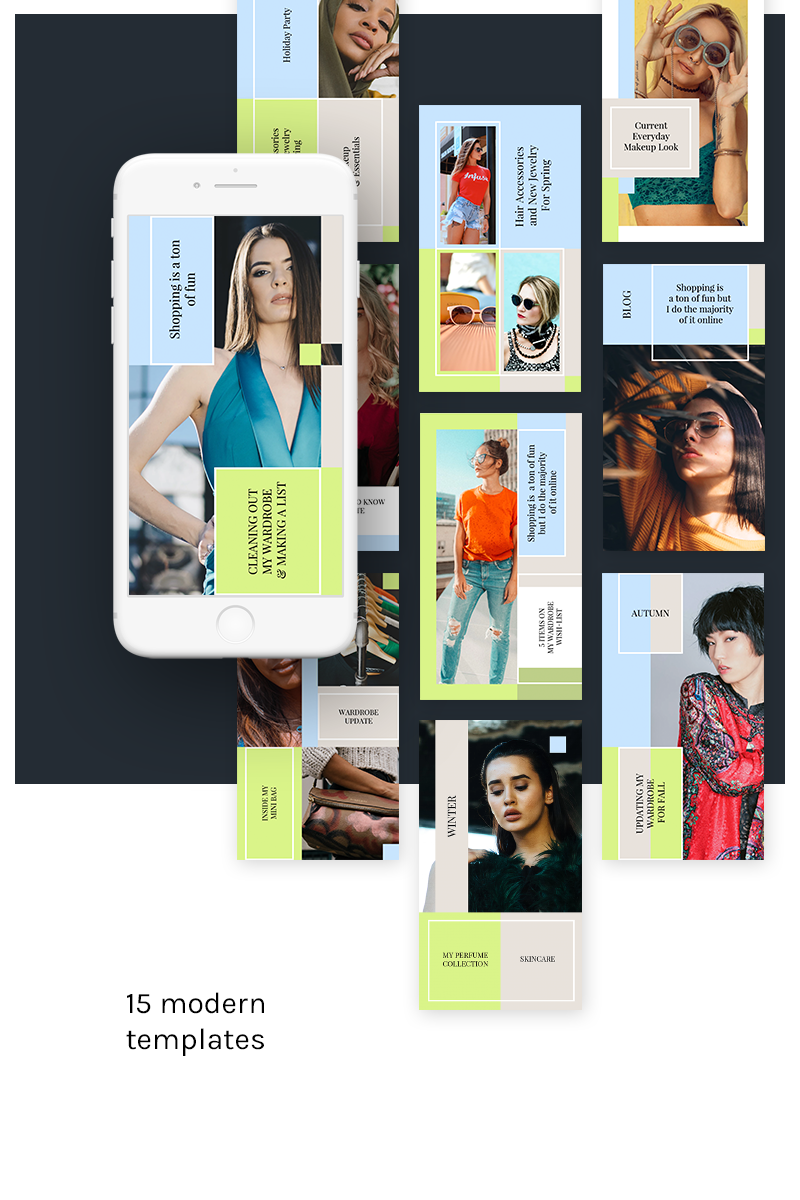"Template Social Media #79591 ""Instagram Stories Kit (Vol.7)"""
