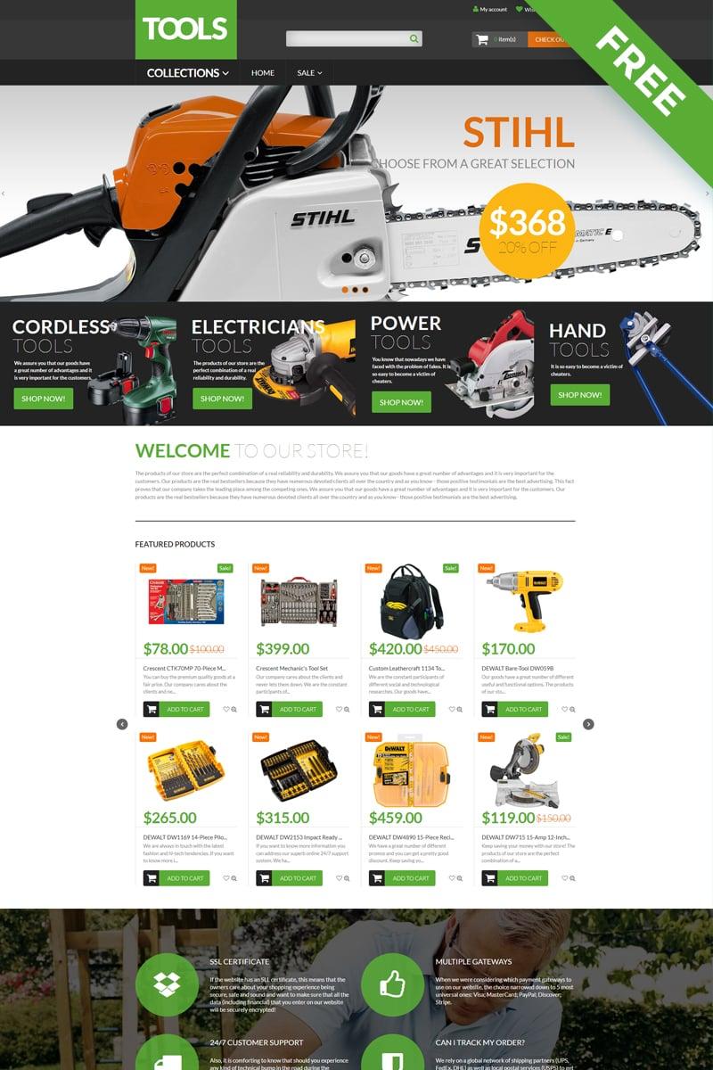 Tools - Tools & Equipment Free Clean Shopify Theme - screenshot