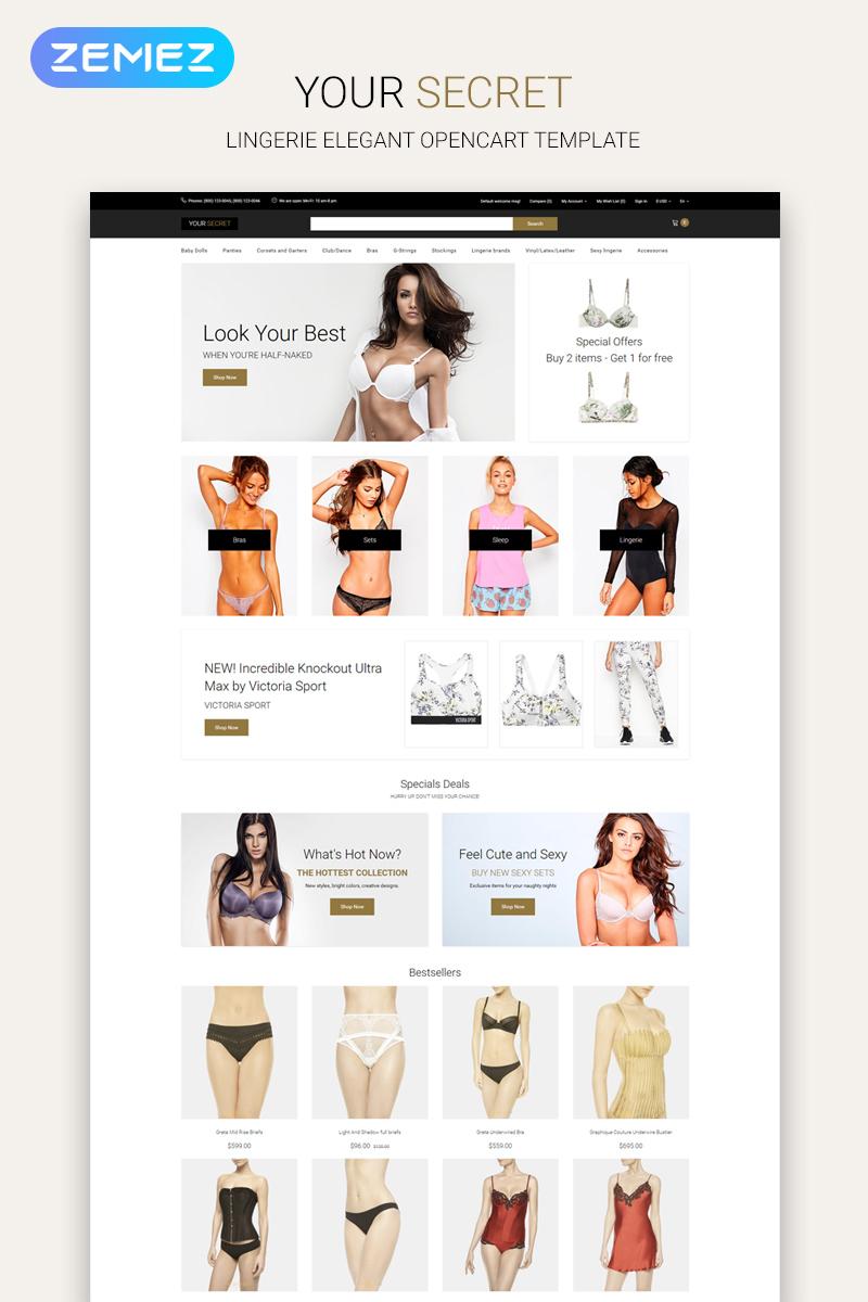 Your Secret - Lingerie Multipage Elegant OpenCart Template