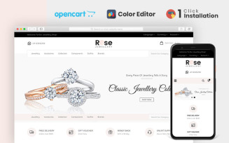 Rose Jewellery Store OpenCart Template