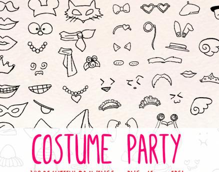 103 Fancy Dress Costume Drawings Illustration