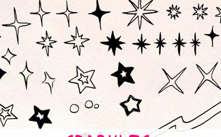 84 Sparkle and Star Illustration