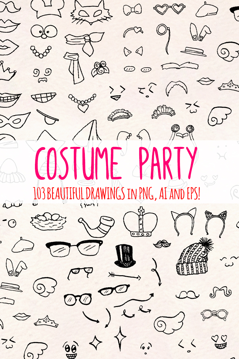 """103 Fancy Dress Costume Drawings"" illustration  #79616 - screenshot"