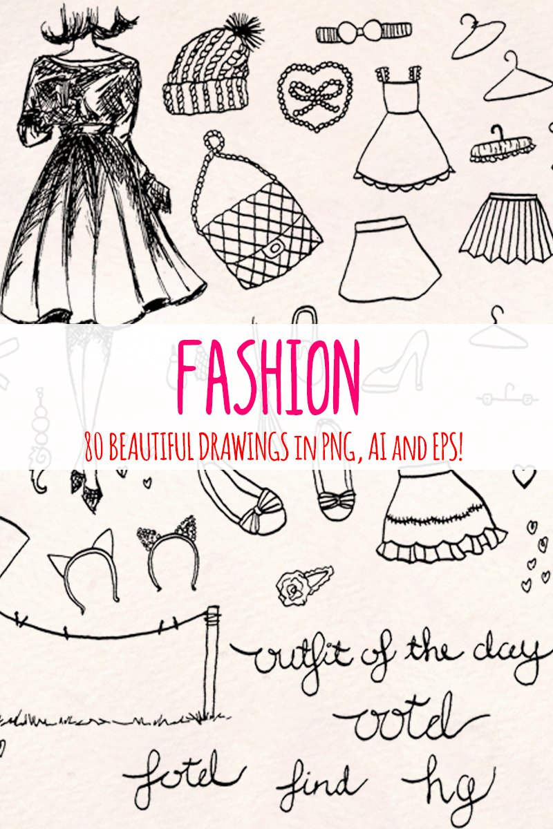 82 Fashion and Clothing Illustration #79661