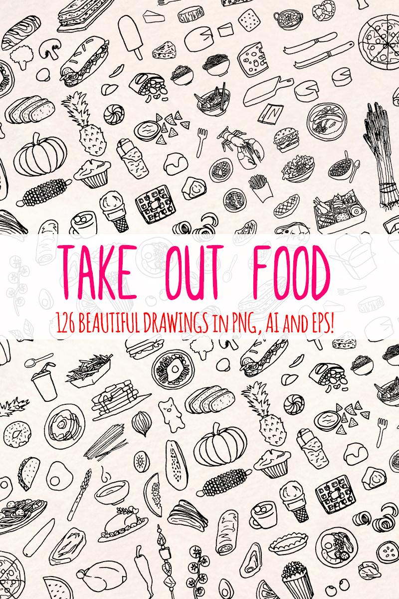 """126 Food and Kitchen"" illustration  #79667"