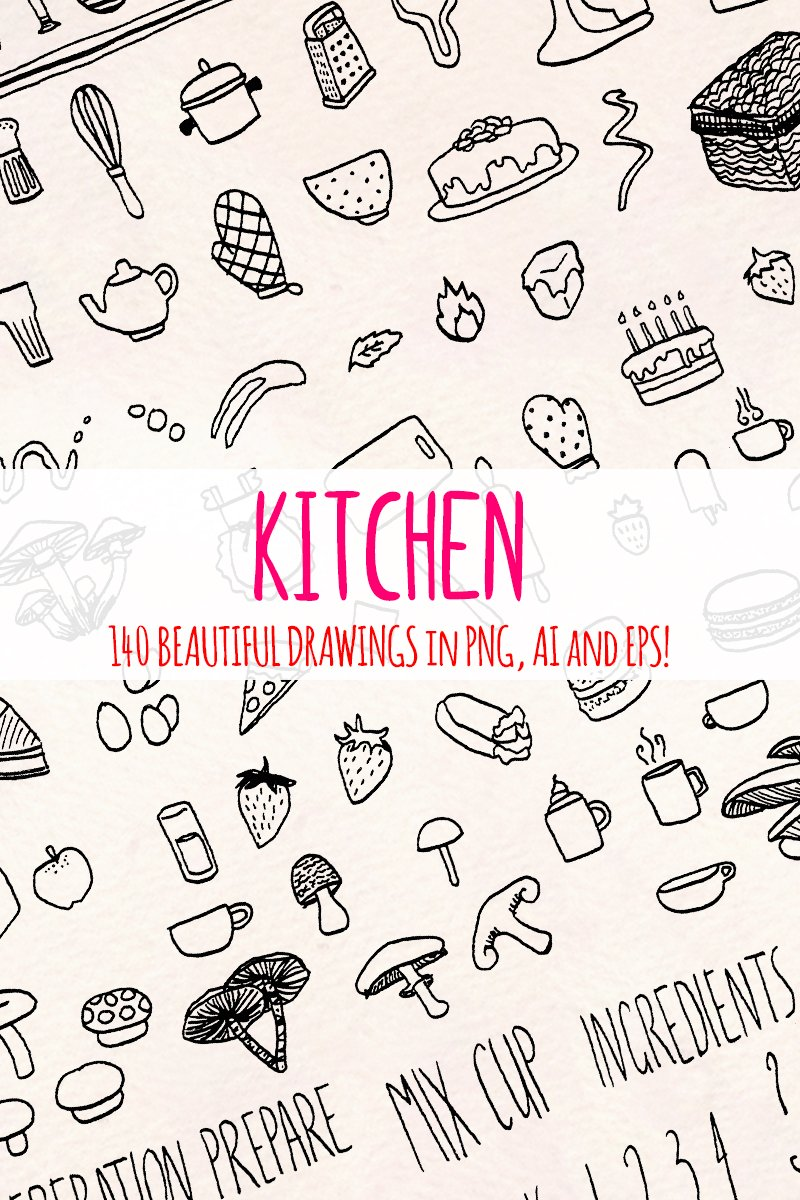 148 Food, Kitchen and Cooking Illustration #79624